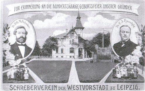 Koloniträdgården Schrebergärten anlades 1864 i Leipzig av läkaren Moritz Schreber och rektorn Ernst Innozenz Hauschild.
