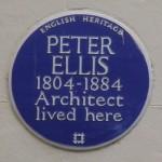English Heritage Blue Plaque på 40 Falkner Square