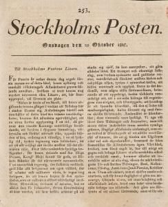 Stockholms-Posten 29 okt 1828