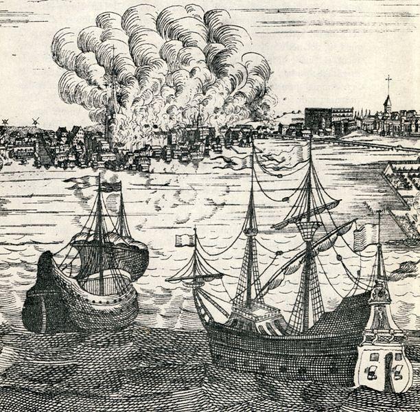 Glödande kopparplåtar flyger över Norrmalm