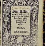 Swenska Songer av Olaus Petri från 1536