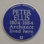 English Heritage Blue Plaque på 40 Falkner Square