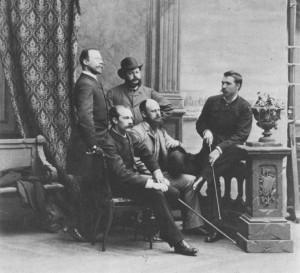 Opponenterna mot Konstakademin 1885 (Foto okänd)