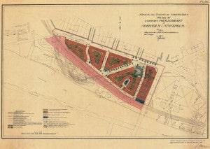 Stadsplan för Rörstrand 1917