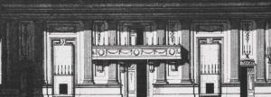 Ritning till den nya danssalongen 1784.