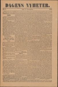 Dagens Nyheter den 23 december 1864